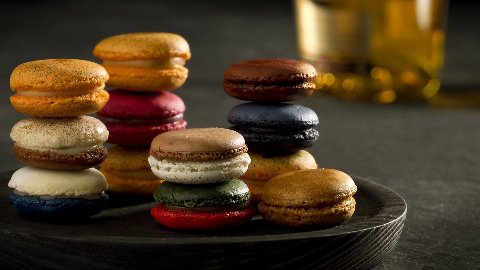 Macarons with orange and licor 43